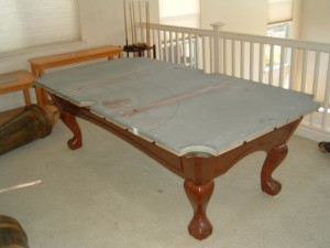 Proper pool table moving process in Riverside California